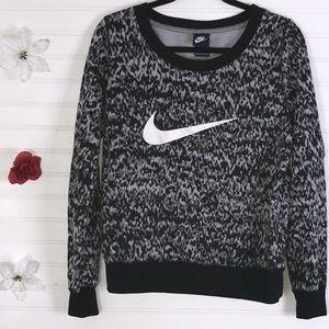 Nike Black White Gray Pullover Large